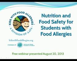 Nutrition and Food Safety for Students with Food Allergies