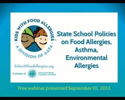State School Policies on Food Allergies Asthma and Environmental Allergies