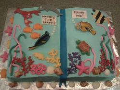 Nemo Birthday Book Cake