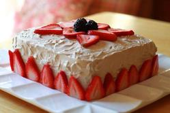 Mocha Cake with Berries