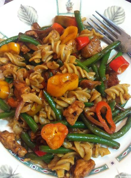 Pasta with Chicken and Veggies