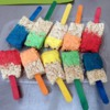 paintbrush rice krispie treats