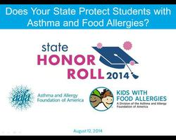 Does Your State Protect Students with Asthma and Food Allergies