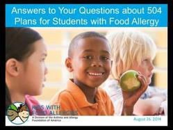 Answers to Your Questions About 504 Plans for Students with Food Allergy