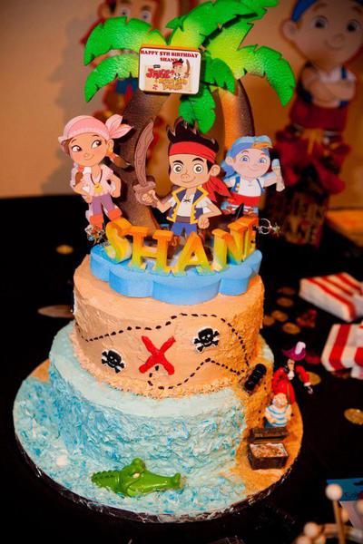 Peanut/Tree Nut/Dairy Free Jake and the Neverland Pirates rainbow cake