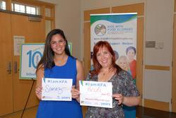 Sanaz Eftekhari 3 years & Heidi Bayer 10 years #IamKFA