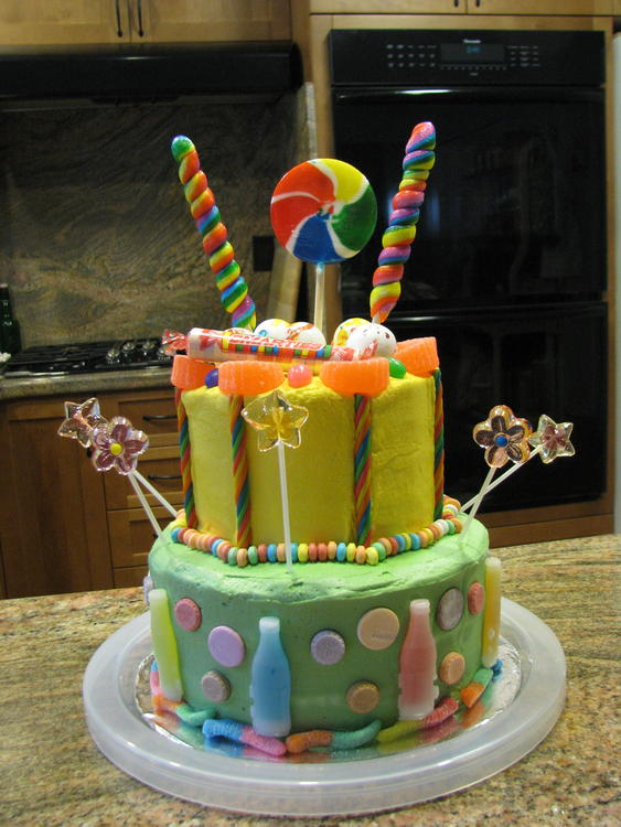 Candy Land cake, allergy-friendly