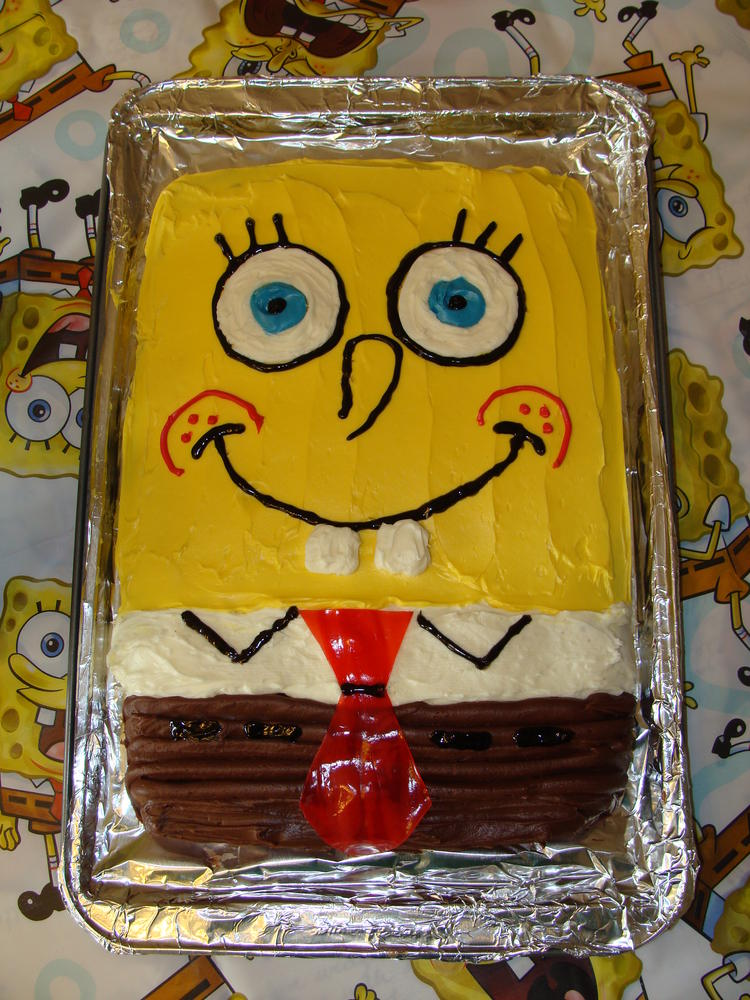 Spongebob Cake Free Of Milk Egg Wheat Peanut And Tree Nuts
