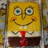 Spongebob cake, free of milk, egg, wheat, peanut and tree nuts