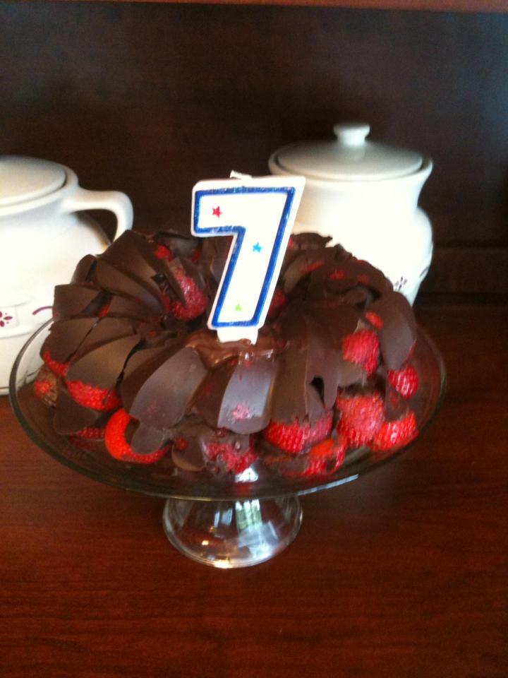 Chocolate Strawberry Cake, very allergy-friendly
