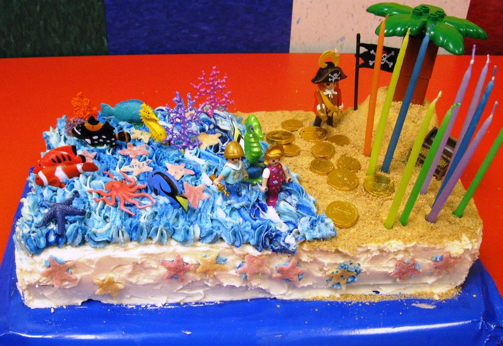Dairy and Egg Free Mermaid & Pirate Cake