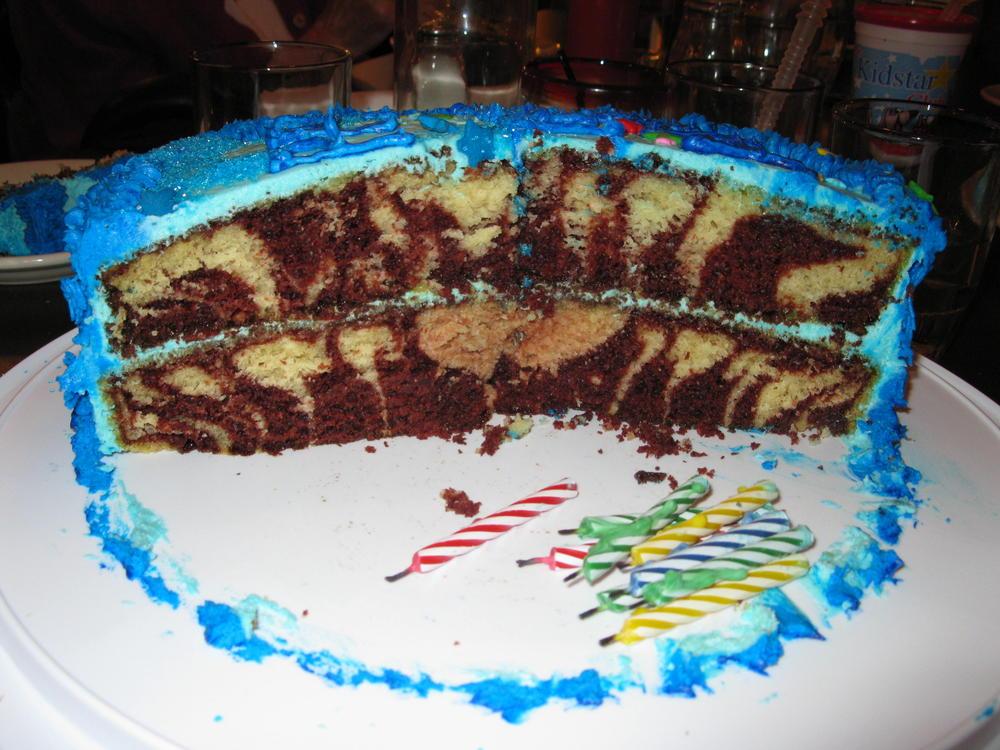 Zebra Wacky Cake