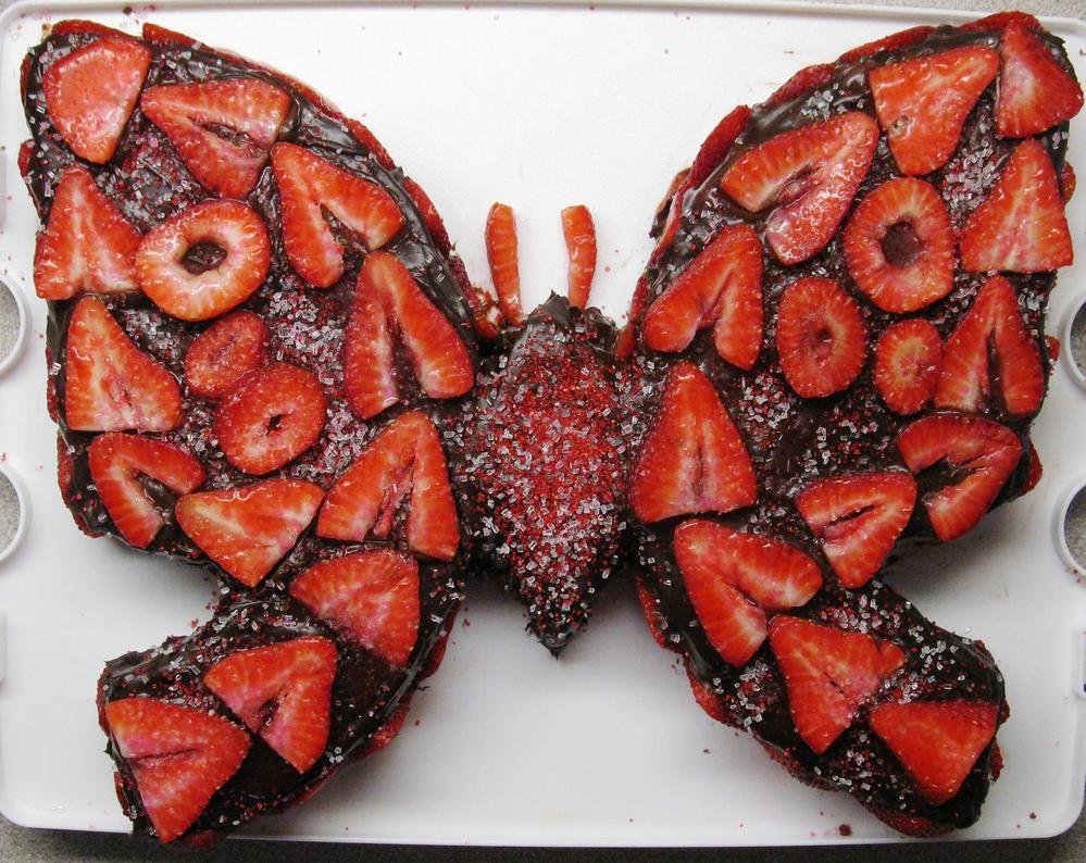 Butterfly Cake: Chocolate Wacky Cake (Egg and Dairy Free)