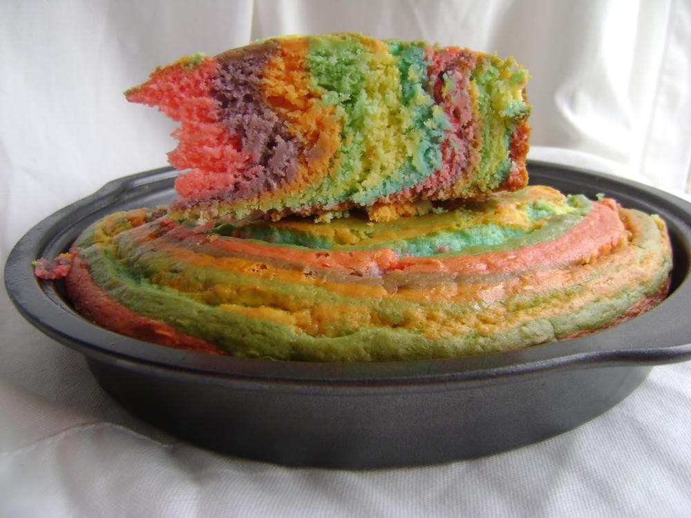 Easter Zebra Stripe cake, allergy-friendly