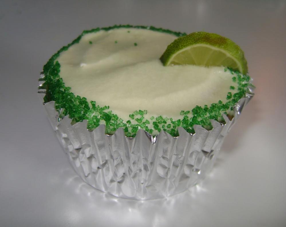 margarita cupcake single, vegan