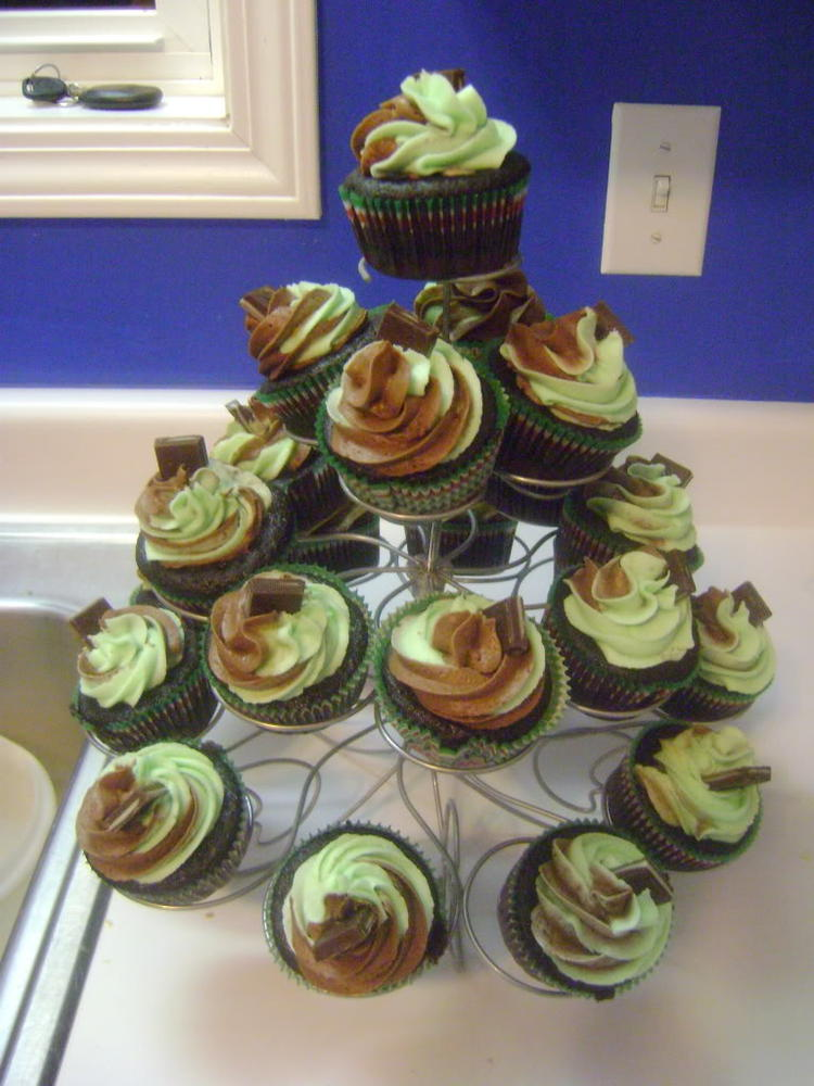 Creme de Menthe Cupcakes, allergy-friendly