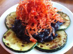 Fiery Kelp Salad with Black Beans