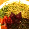Gluten-Free Spinach Spaghetti with Roasted Vegetables