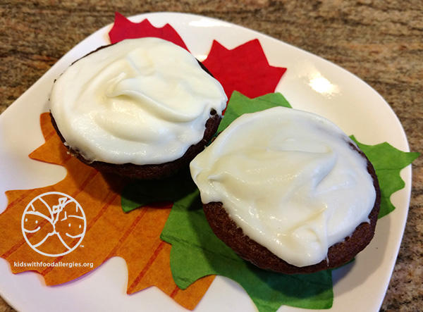 Cheryl's Pumpkin Muffins with Dairy-Free Cream Cheese Frosting