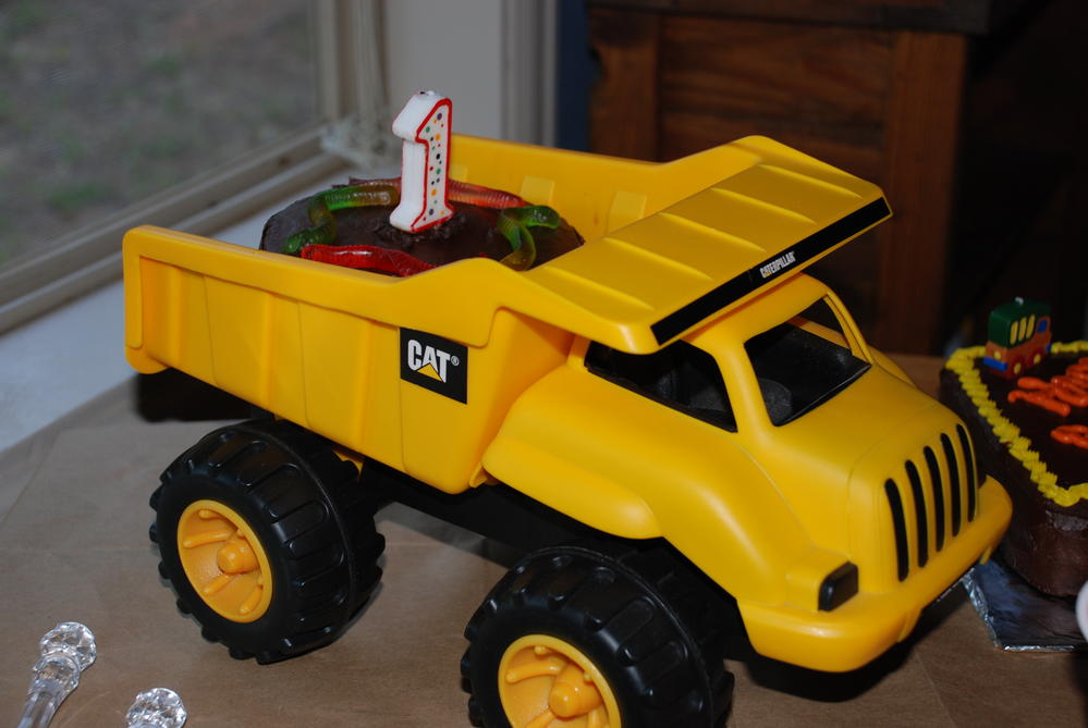 1st Birthday - Truck Cake free of wheat, egg, peanuts, tree nuts and dairy