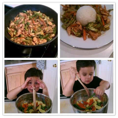 Real men cook!!
