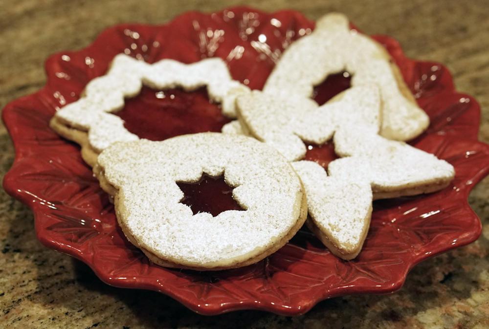 Linzer Cookies - dairy, egg, gluten free