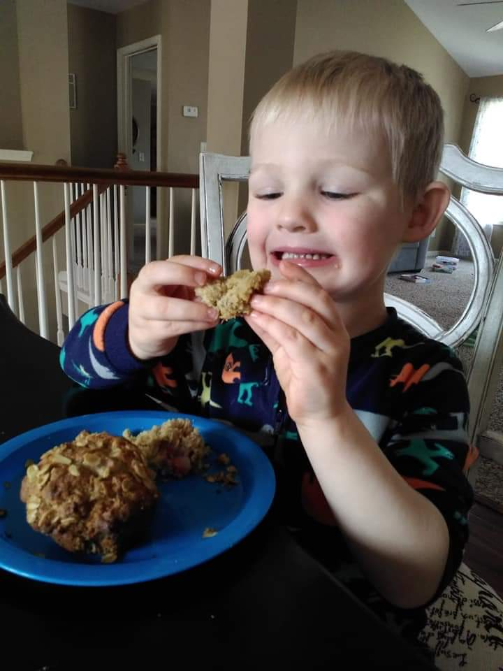 He doesn't let food allergies get in the way of his love of food and baking