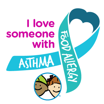 I Love Someone With Food Allergy and Asthma Ribbon