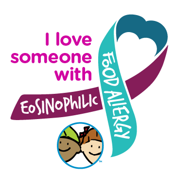 I Love Someone With Eosinophilic Food Allergy Ribbon