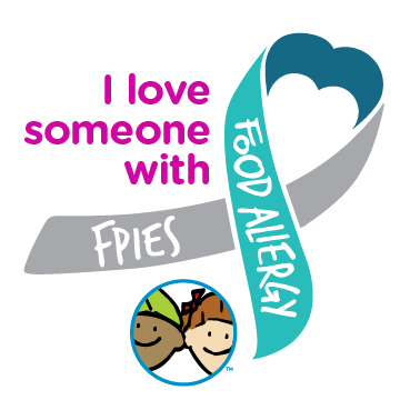 I Love Someone With FPIES Food Allergy Ribbon