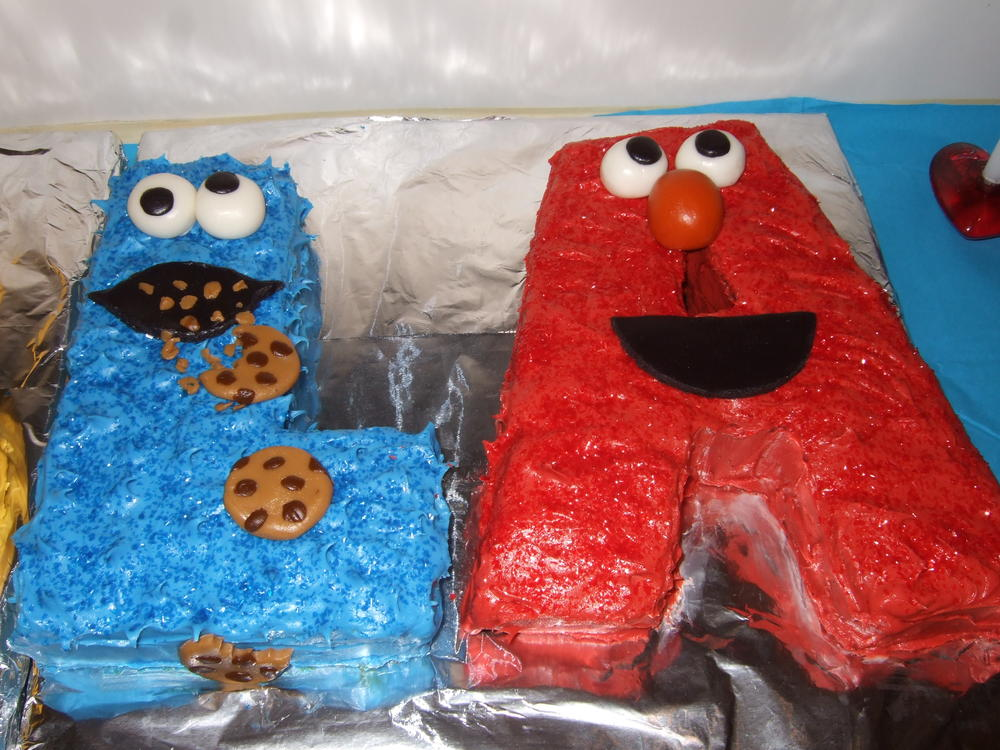 Sesame Street Letters Cake for 2nd Birthday