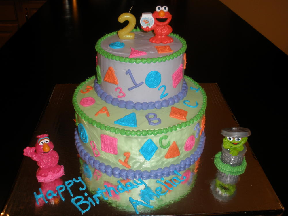 Sesame Street Birthday cake free of dairy eggs peanuts and tree