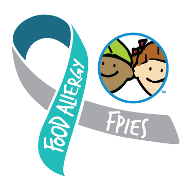 Food Allergies and FPIES Awareness Ribbon
