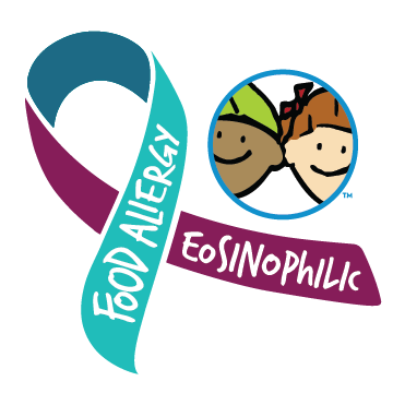 Food Allergies and Eosinophilc Disorder Awareness Ribbon