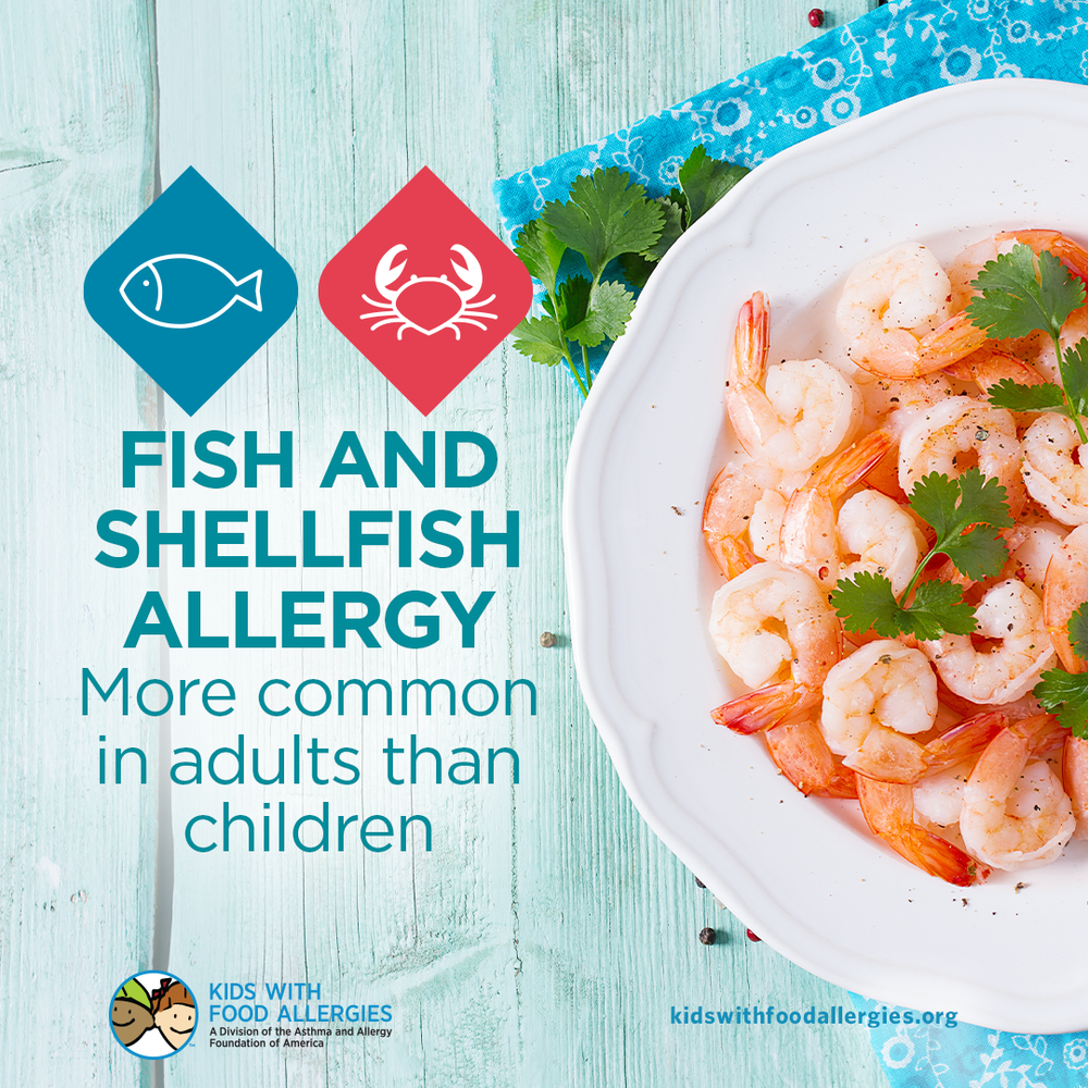 Food Allergy Education: Fish and Shellfish Allergy Are More Common In Adults