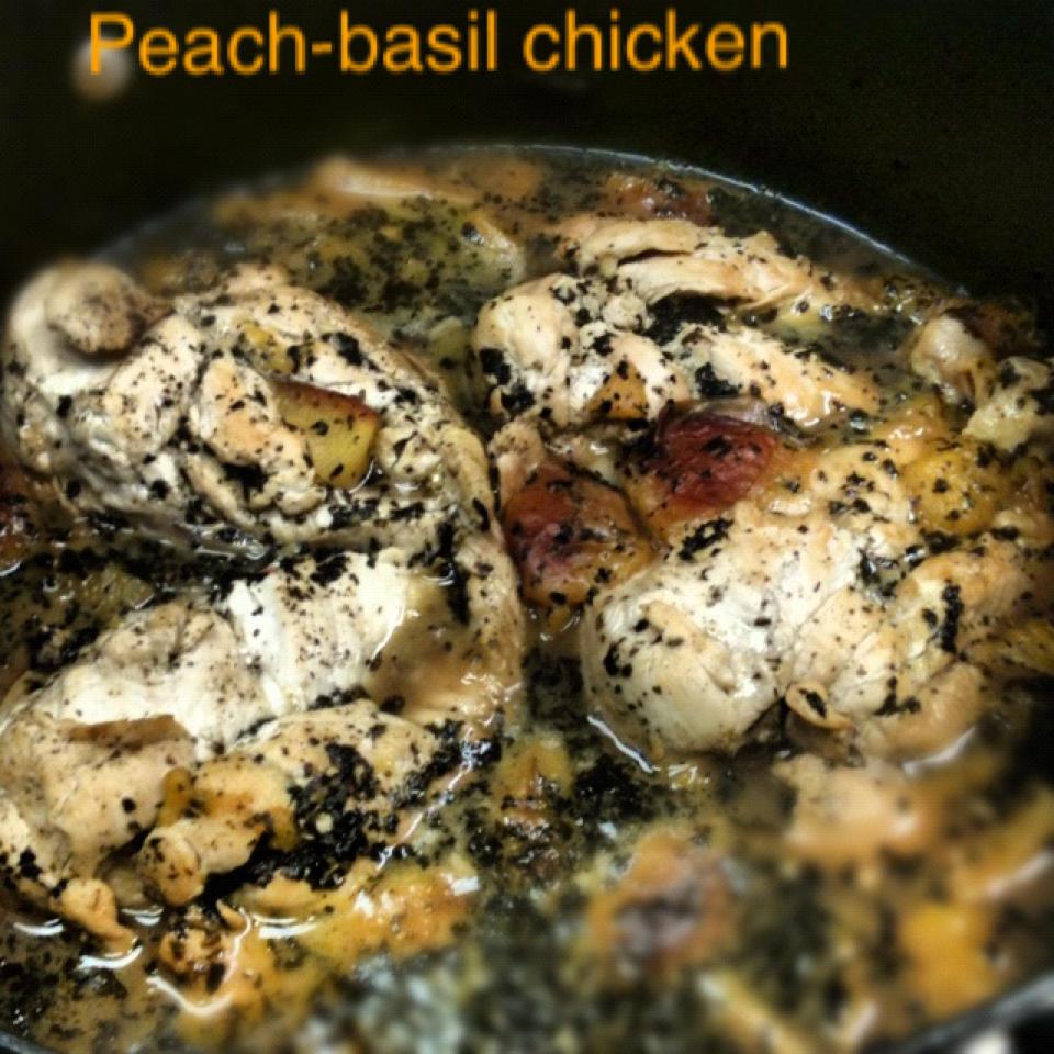 Peach-basil chicken