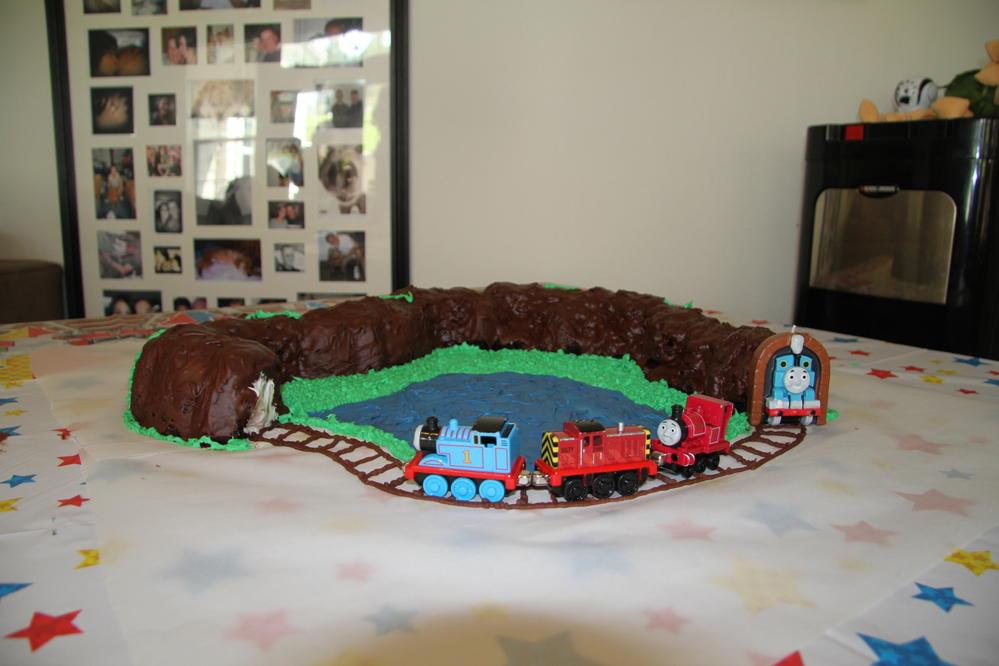 Thomas the Train Cake, allergen-friendly