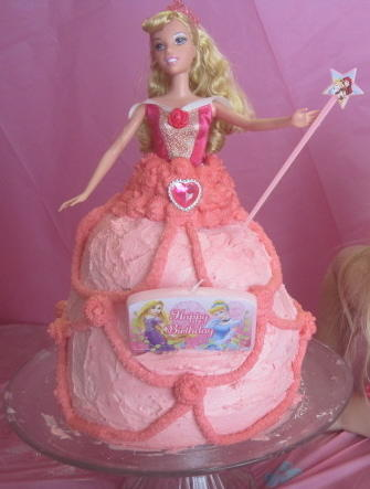 Princess doll cake free of peanuts, tree nuts, wheat, milk, egg and soy