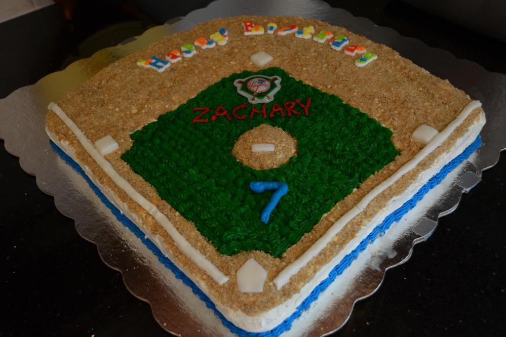 Baseball field cake (peanut, tree nut free)