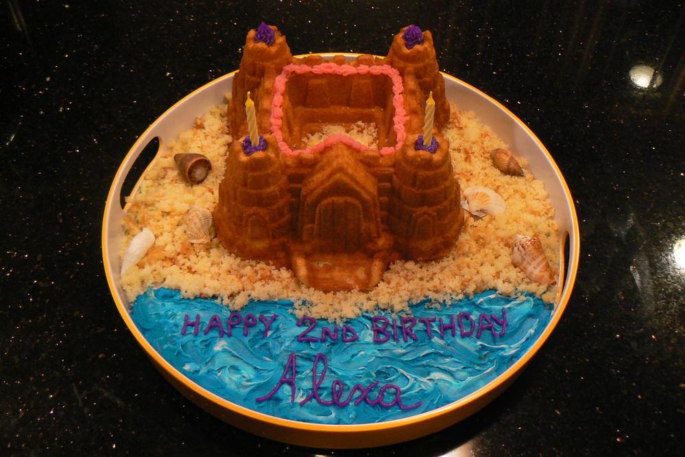 Sand castle cake (peanut free, tree nut free)