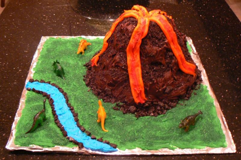 Volcano Cake, free of peanuts and tree nuts