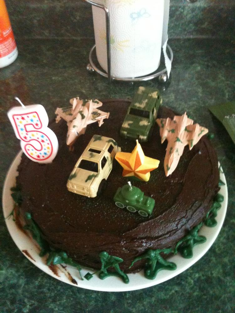 Army Birthday Cake No Milk Soy Or Wheat Kids With