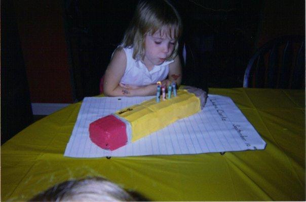 Pencil cake (Milk, Egg, and Peanut free)