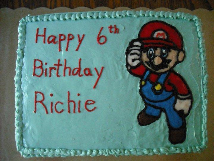 Mario cake (Milk, Egg and Peanut free)